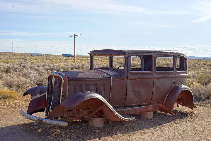 Route 66 Petrified Forest 1932 Studebaker