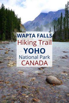 Wapta Falls Hiking Trail Yoho National Park Canada