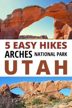 5 Easy Hikes Arches National Park Utah