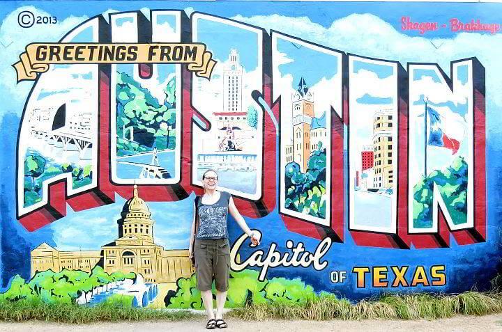 Greetings from Austin mural SoCo
