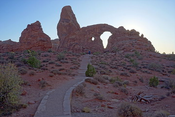 Turret Arch trail Arches National Park