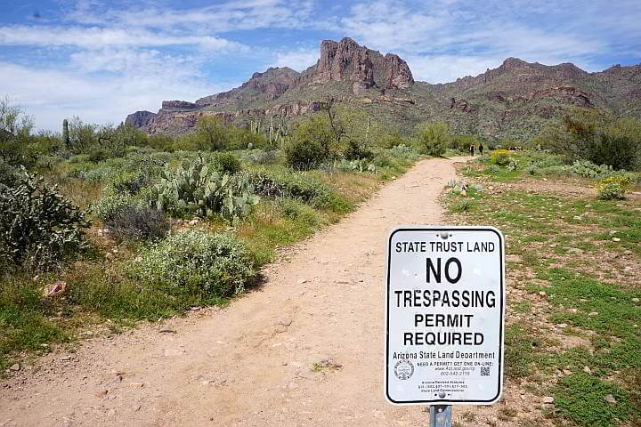 Siganage states AZ state trust land permit required