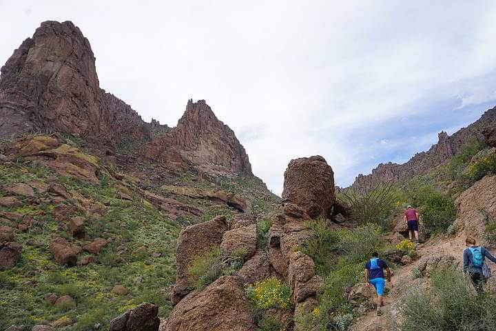 Hikers on the Wave Cave Trail Arizona