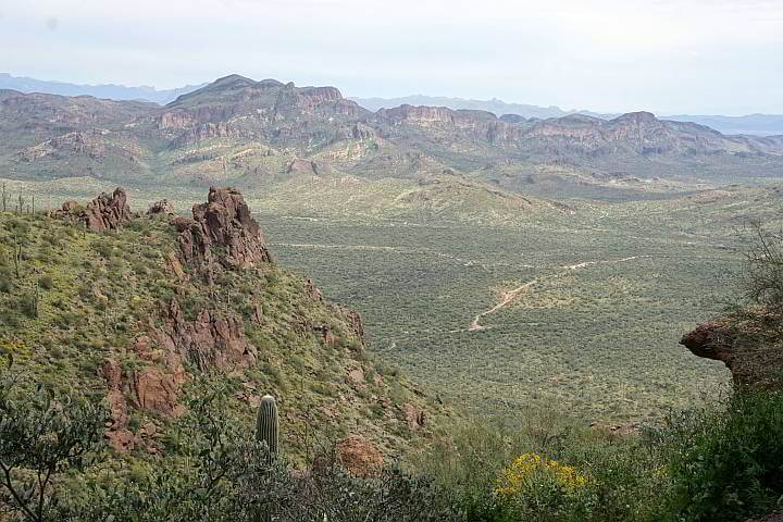 View from Wave Cave summit