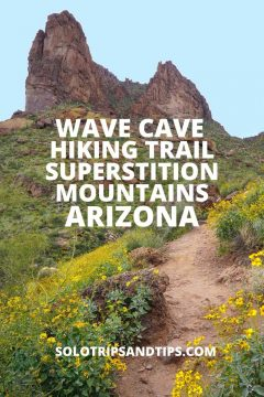 Wave Cave Hiking Trail Superstition Mountains Arizona