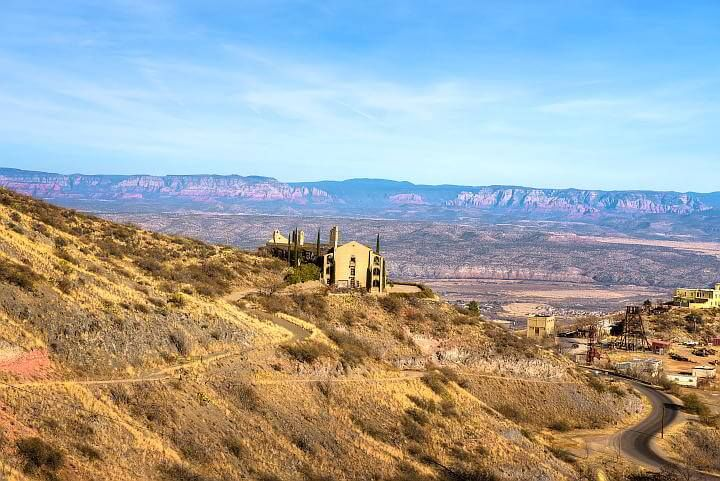 Scenic view of mountain town Jerome Arizona