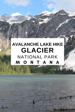Avalanche lake hike is a picturesque in Glacier National Park Montana