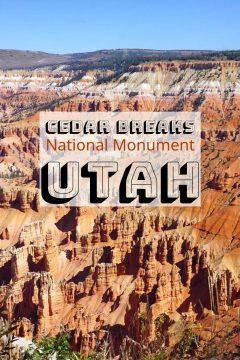 Cedar Breaks National Monument Utah features hoodoos similar to Bryce Canyon