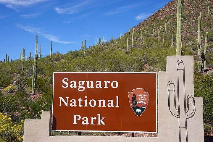 Saguaro National Park entrance sign