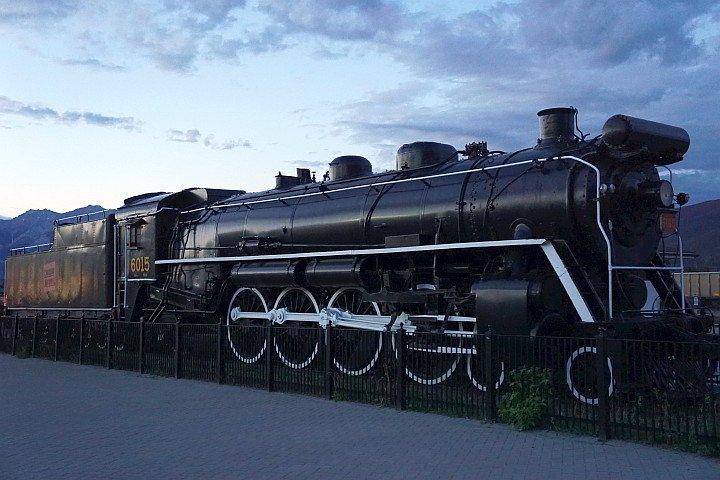 CN steam locomotive 6015 engine in Jasper AB