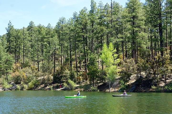 Kayaking Goldwater Lake Prescott