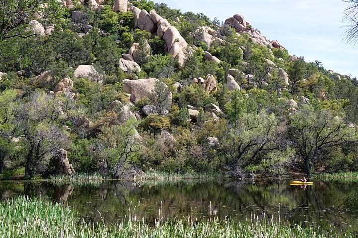 Kayaking Granite Basin Lake Prescott