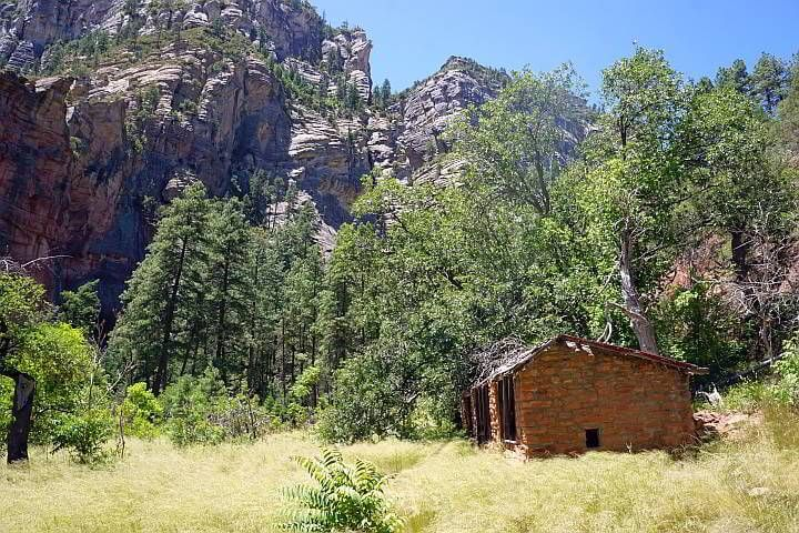 Historic building Oak Creek Canyon used as a chicken coop