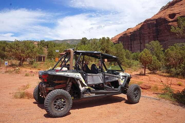 Off road vehicles like this one are common around Sedona