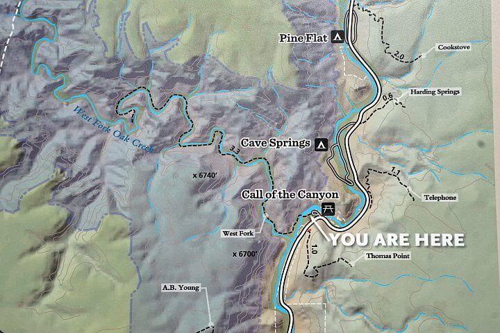 West Fork Oak Creek Map