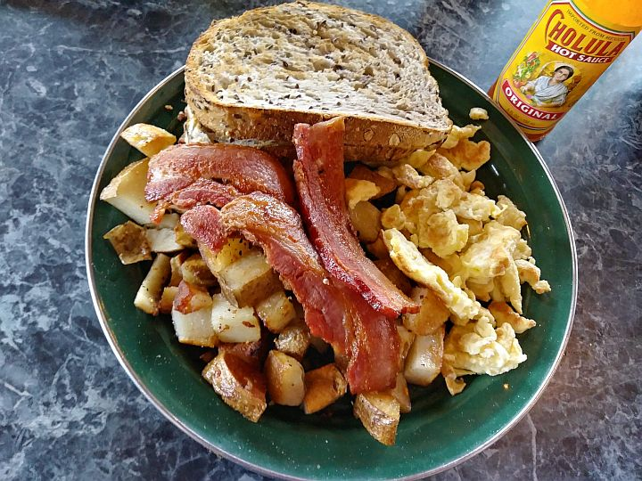 Bacon eggs hashbrowns toast - Big Bend Cafe classic breakfast