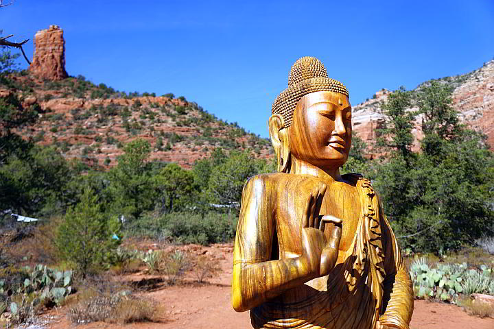 Buddha at Amitabha Stupa and Peace Park