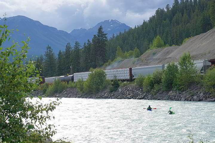 Kayaking Kicking Horse River Golden BC