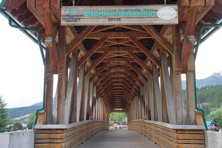 Kicking Horse Bridge Golden BC