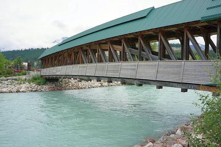 Kicking Horse Pedestrian Bridge Golden BC