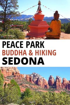 Peace Park Stupa Buddha and Hiking Sedona Arizona