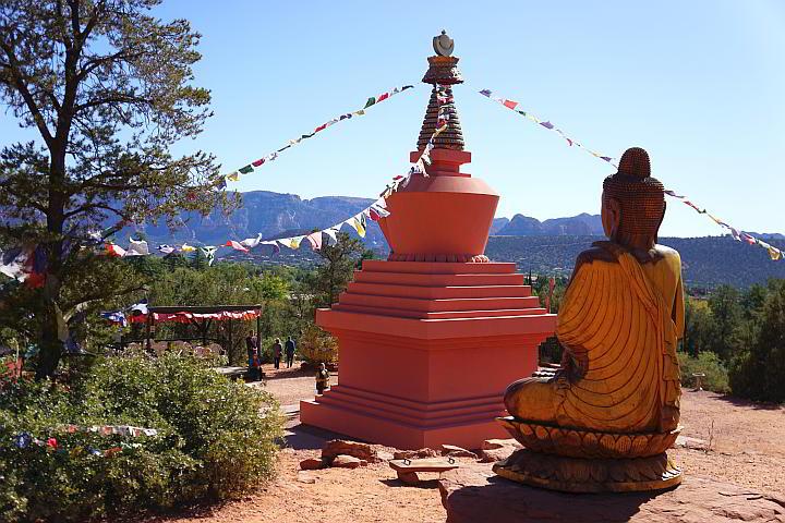 Stupa and Buddha Sedona Arizona