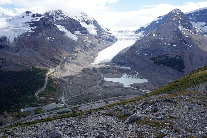 Athabasca glacier Alberta Canada