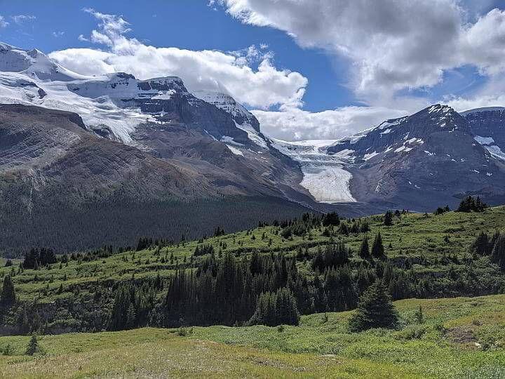 Wilcox Pass view of Icefields Parkway Jasper