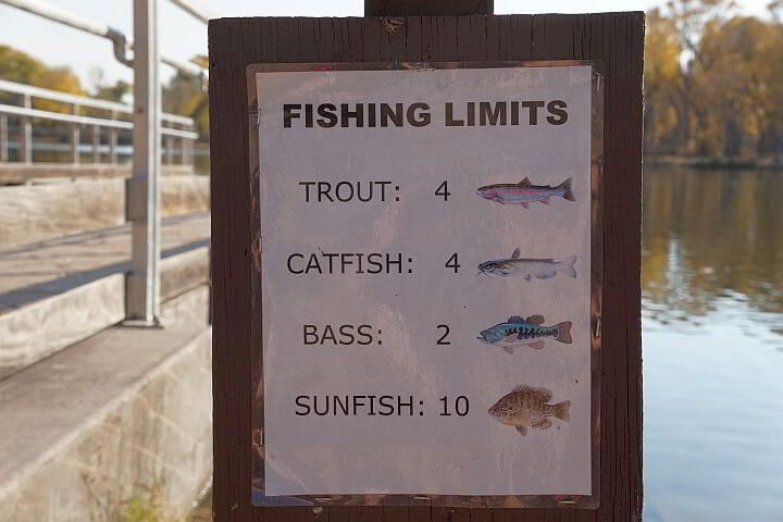 Fishing limits for Dead Horse Ranch State Park